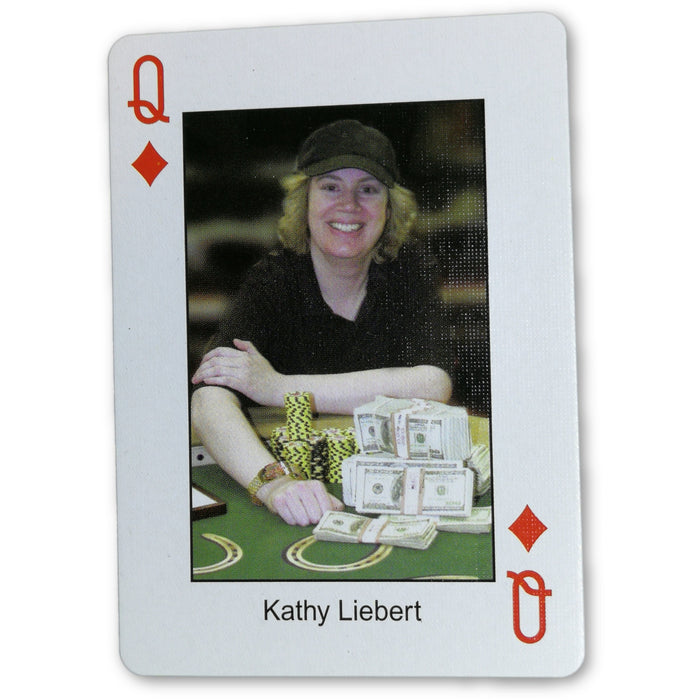 Kathy Liebert Pokers Most Wanted Poker Pro Playing Card Queen of Diamonds