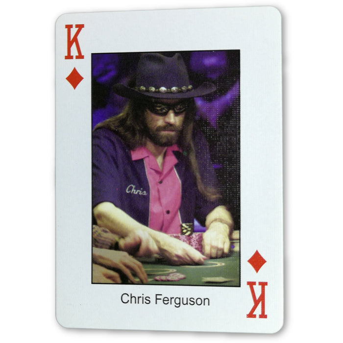 Chris Ferguson Pokers Most Wanted Poker Pro Playing Card King of Diamonds