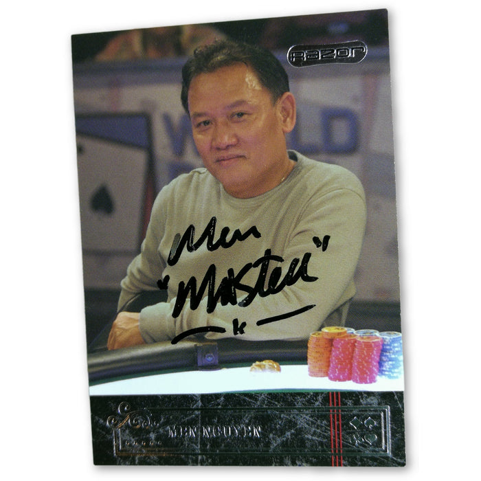 Men Nguyen 2006 Razor Poker #37 Base Poker Trading Card Autographed