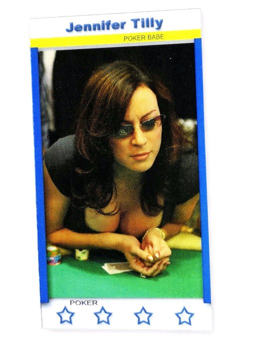 Jennifer Tilly 2011 Fa Productions Mini Star Series 8 of 12 Poker Trading Card
