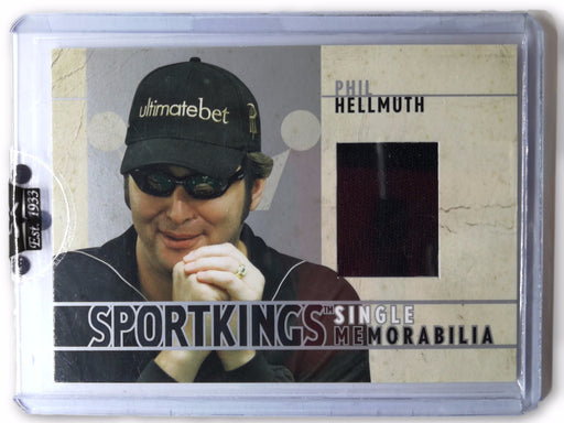 Phil Hellmuth 2007 Sportkings Single Memorabilia Silver #SM18 Shirt 1 of 90