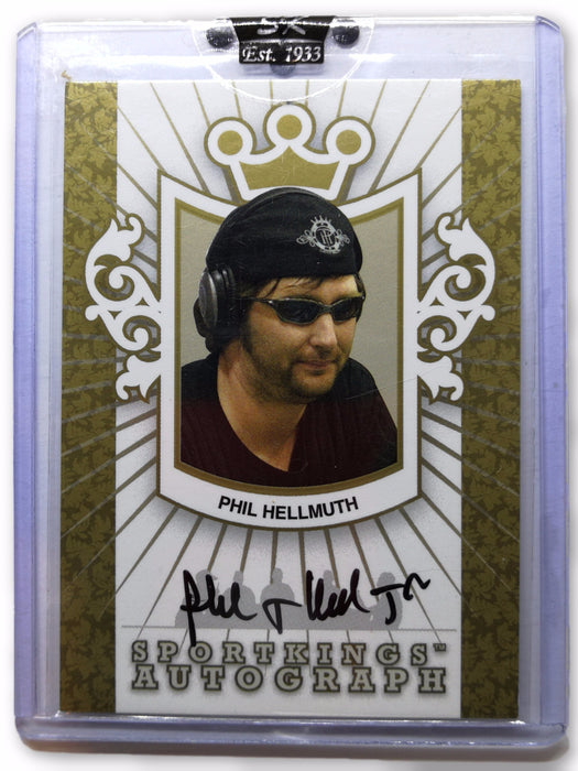 Phil Hellmuth 2007 Sportkings Autograph Gold #APH  1 Of 10 Poker Trading Card