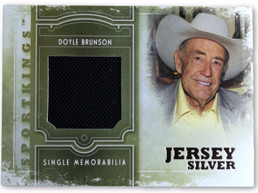 Doyle Brunson 2012 Sportkings Single Memorabilia Silver #SM19 1 of 90 Poker Trading Card