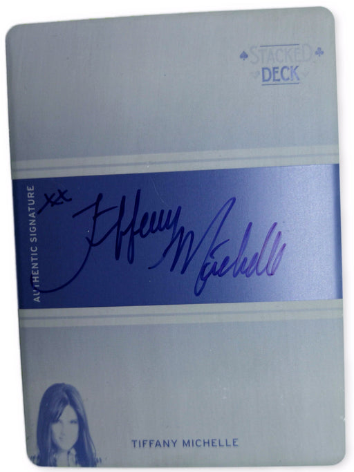 Tiffany Michelle 2011 Leaf Poker SD-TM1 Black Printing Plate Autographed 1 of 1 Poker Trading Card