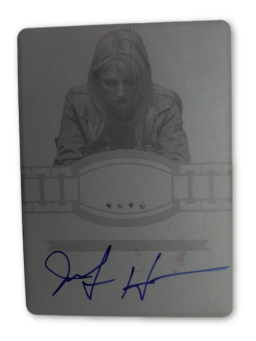 Jennifer Harman 2012 Leaf Metal Poker BR-JH1 Magenta Printing Plate Autographed 1 of 1 Poker Trading Card