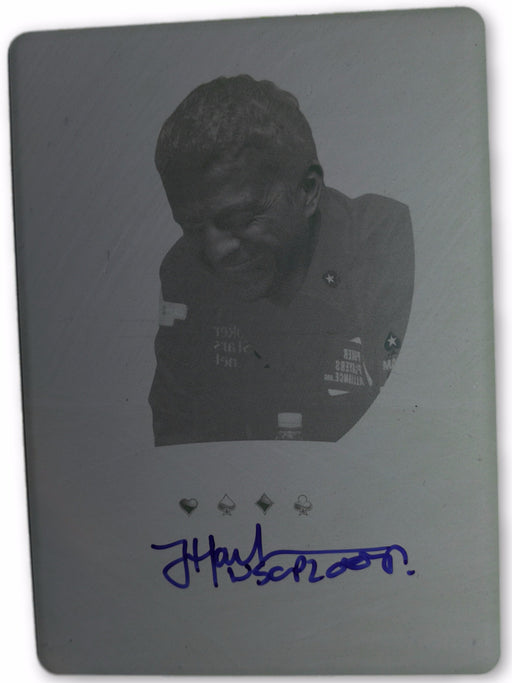 Joe Hachem 2012 Leaf Metal Poker MB-JH2 Yellow Printing Plate Autographed 1 of 1 Poker Trading Card
