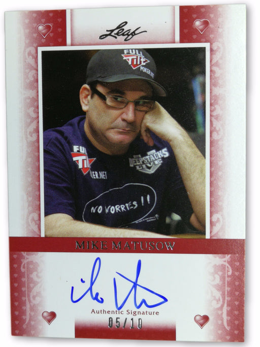 Mike Matusow 2011 Leaf Poker Hearts #BAMM2 05 of 10