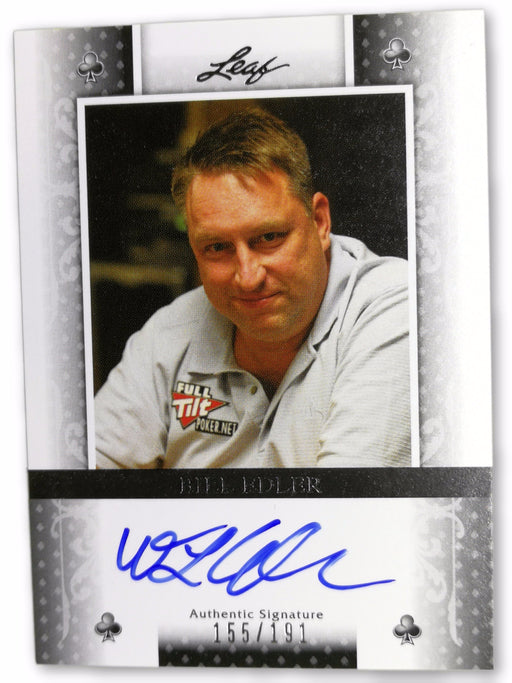 Bill Edler 2011 Leaf Poker Clubs #BABE1 155 of 191