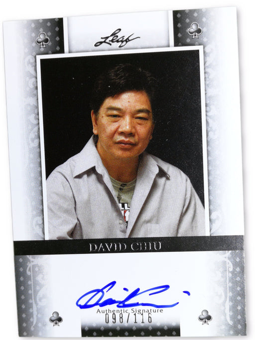 David Chiu 2011 Leaf Poker Clubs #BADC1 98 of 116