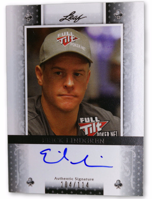 Erick Lindgren 2011 Leaf Poker Clubs #BAEL1 104 of 114