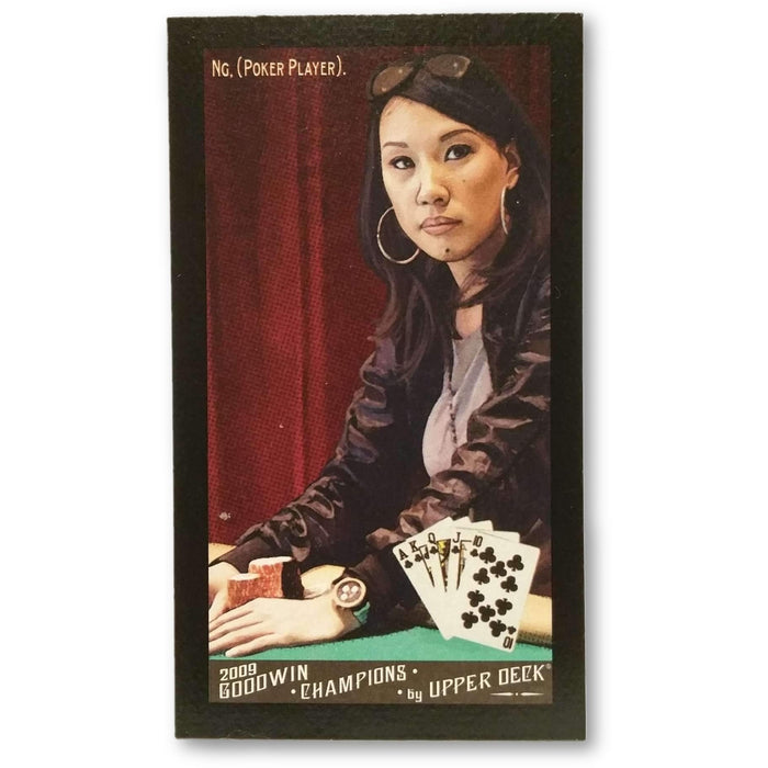 Evelyn Ng 2009 Upper Deck Goodwin Champions #105  Mini Black Border Poker Trading Card