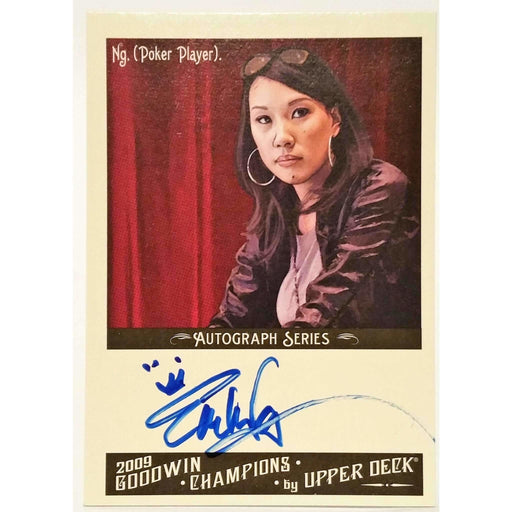 2009 Upper Deck Goodwin Champions #A-EN Evelyn Ng  Autograph Poker Trading Card