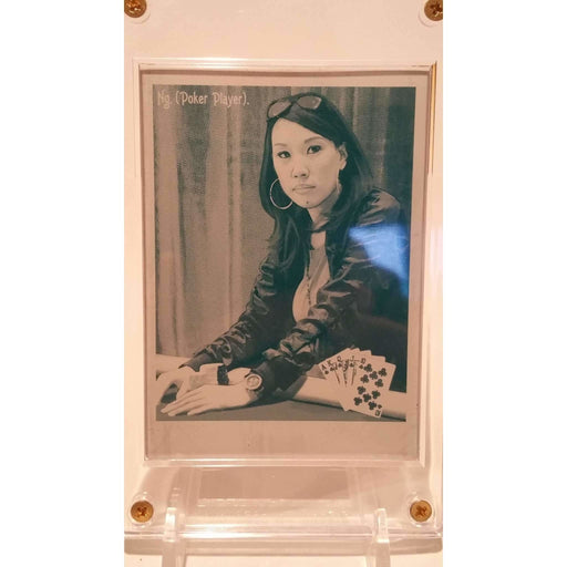 2009 Upper Deck Goodwin Champions #105 Evelyn Ng, 1 of 1 Cyan Printing Plate Poker Trading Card