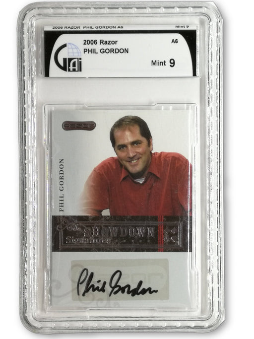 Phil Gordon 2006 Razor Poker #A-6 Graded 9 Showdown Signature Poker Trading Card