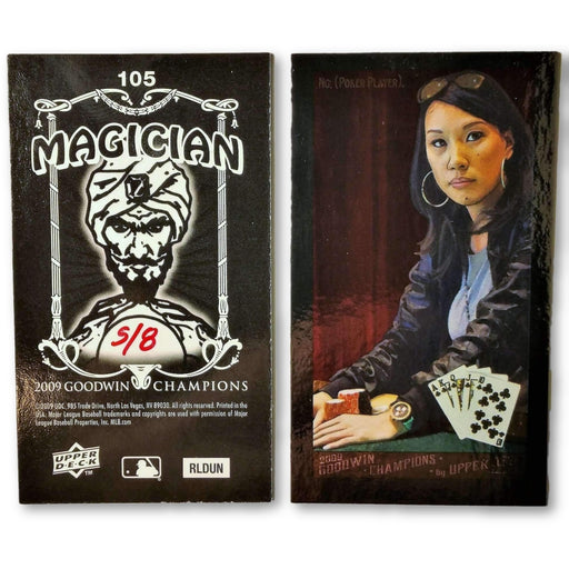 Evelyn Ng 5/8 2009 Upper Deck Goodwin Champions #105 Mini Black Border Foil Poker Trading Card