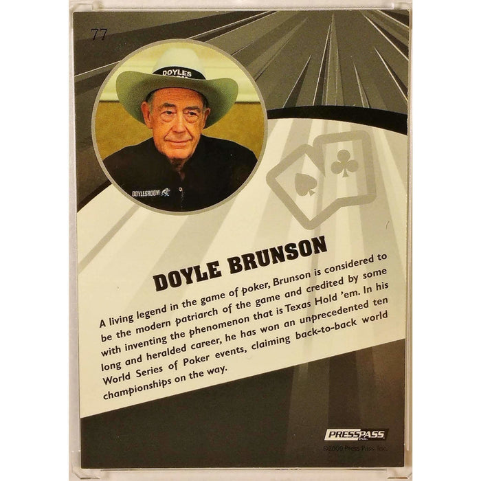 2009 Press Pass Wheels Main Event Fusion #77 Doyle Brunson Poker Trading Card