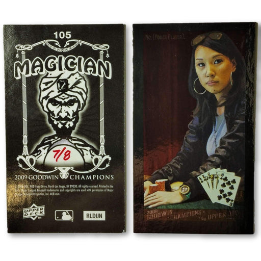 Evelyn Ng 7/8 2009 Upper Deck Goodwin Champions #105 Mini Black Border Foil Poker Trading Card