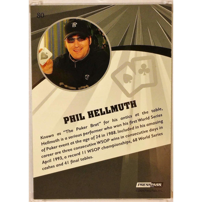 2009 Press Pass Wheels Main Event Fusion #80 Phil Hellmuth Poker Trading Card