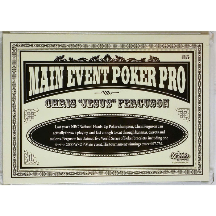 2009 Press Pass Wheels Main Event #85 Chris Ferguson Poker Trading Card