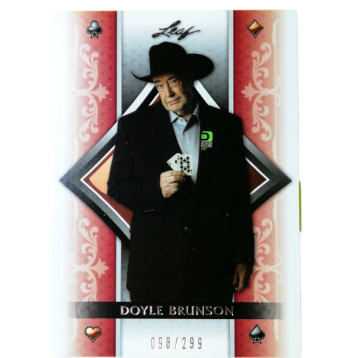 Doyle Brunson 2011 Leaf Poker #P3 Promotional Poker Trading Card Short Print 098/299