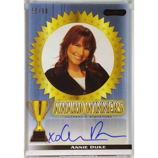 Annie Duke 2010 Pop Century #AWAD1 Award Winners Autographs Blue 30/50 Poker Trading Card