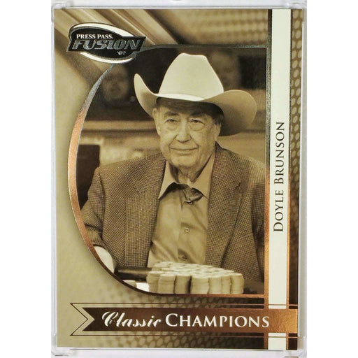 2009 Press Pass Fusion Classic Champions #CCH5 Doyle Brunson Poker Trading Card