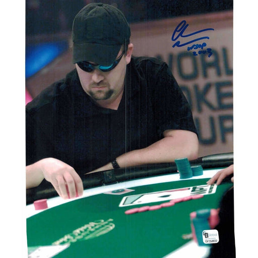 Chris Moneymaker Poker Pro Autographed 8X10 Photo GAI Certified 832
