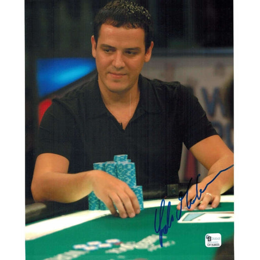 Carlos Mortenson Poker Pro Autographed 8X10 Photo GAI Certified 835