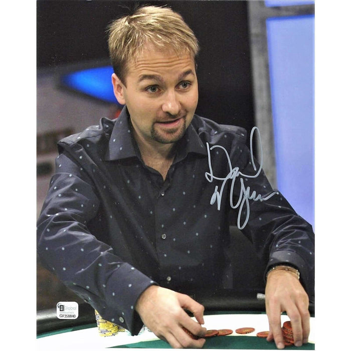 Daniel Negreanu Poker Pro Autographed 8X10 Photo GAI Certified 840