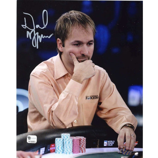 Daniel Negreanu Poker Pro Autographed 8X10 Photo GAI Certified 841
