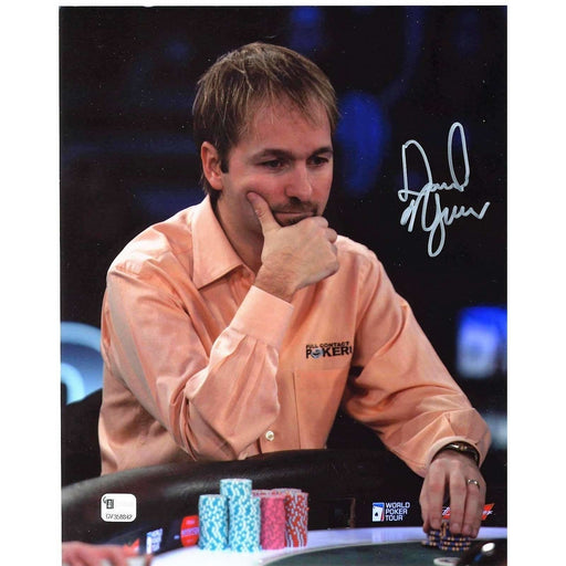 Daniel Negreanu Poker Pro Autographed 8X10 Photo GAI Certified 842