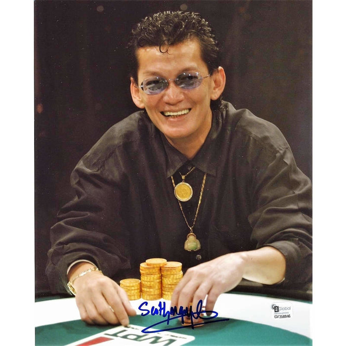 Scotty Nguyen Poker Pro Autographed 8X10 Photo GAI Certified 846