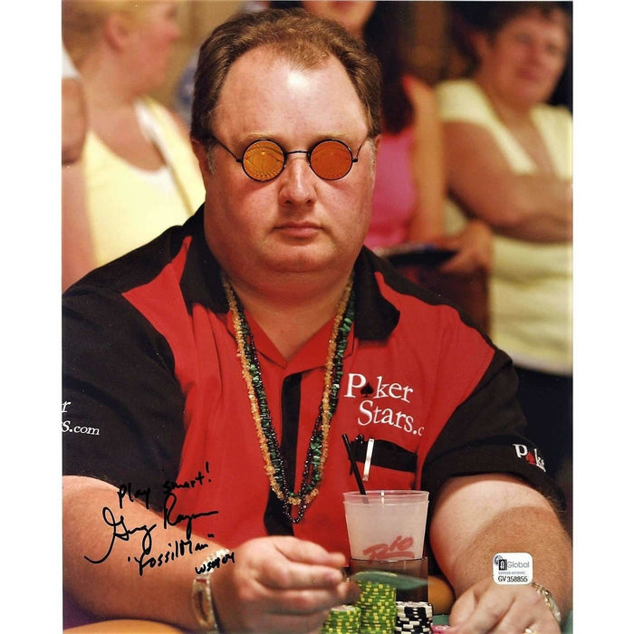 Greg Raymer Poker Pro Autographed 8X10 Photo GAI Certified 855
