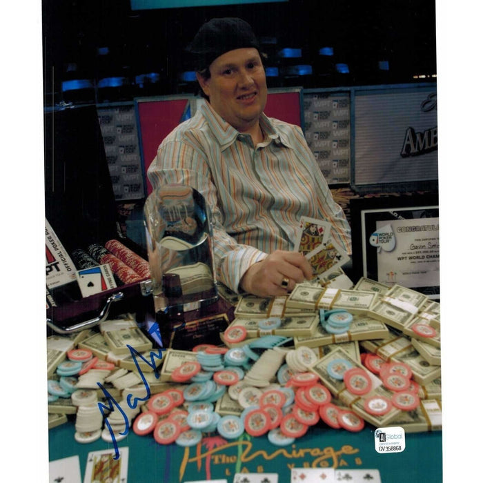 Gavin Smith Poker Pro Autographed 8X10 Photo GAI Certified 868