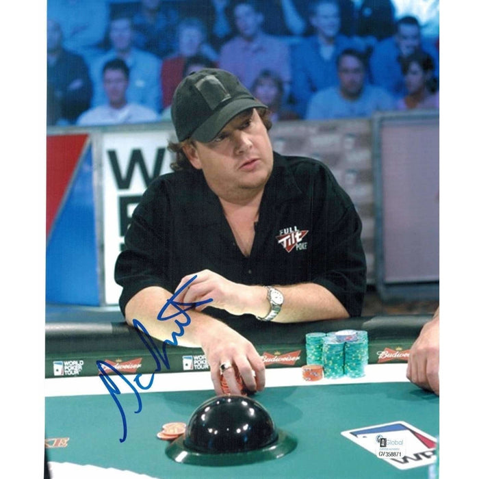 Gavin Smith Poker Pro Autographed 8X10 Photo GAI Certified 871