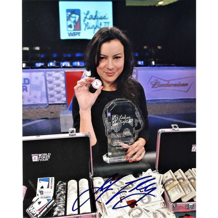 Jennifer Tilly Poker Pro Autographed 8X10 Photo GAI Certified 872
