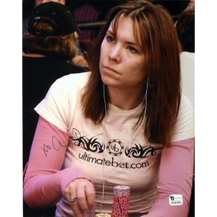 Annie Duke Poker Pro Autographed 8X10 Photo GAI Certified #923