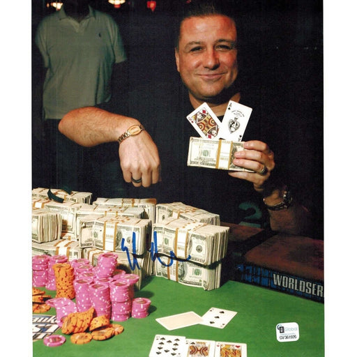 Eli Elezra Poker Pro Autographed 8X10 Photo GAI Certified 926