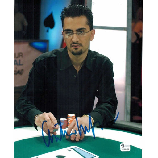 Antonio Esfandari Poker Pro Autographed 8X10 Photo GAI Certified #927
