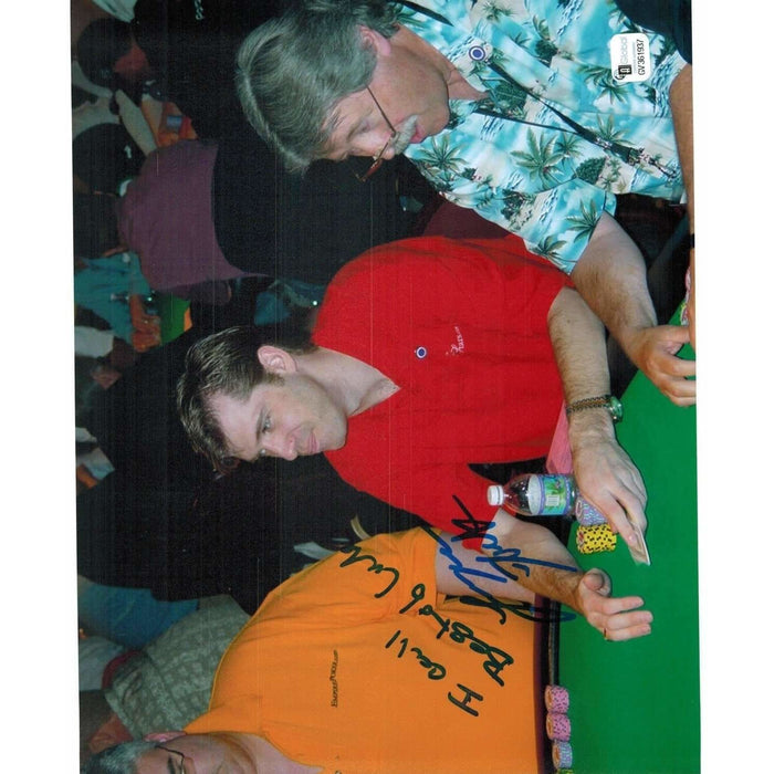 Layne Flack Poker Pro Autographed 8X10 Photo GAI Certified 937