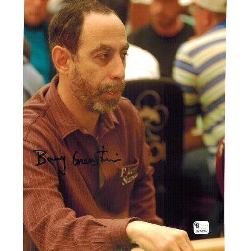 Barry Greenstein Poker Pro Autographed 8X10 Photo GAI Certified 952