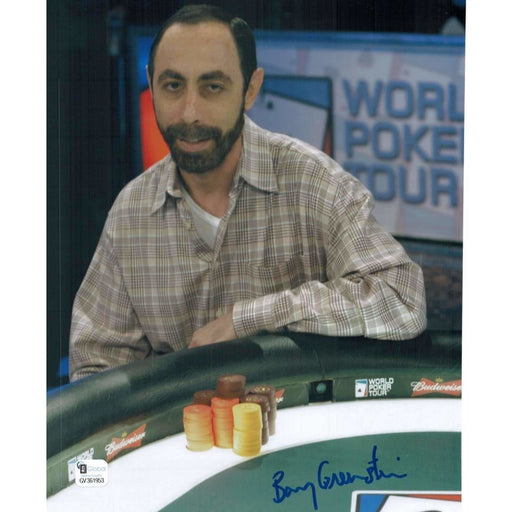 Barry Greenstein Poker Pro Autographed 8X10 Photo GAI Certified 953