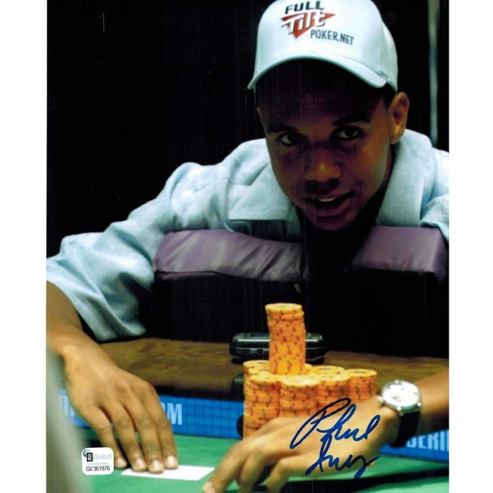 Phil Ivey Poker Pro Autographed 8X10 Photo GAI Certified 976