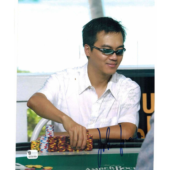 John Juanda Poker Pro Autographed 8X10 Photo GAI Certified 984