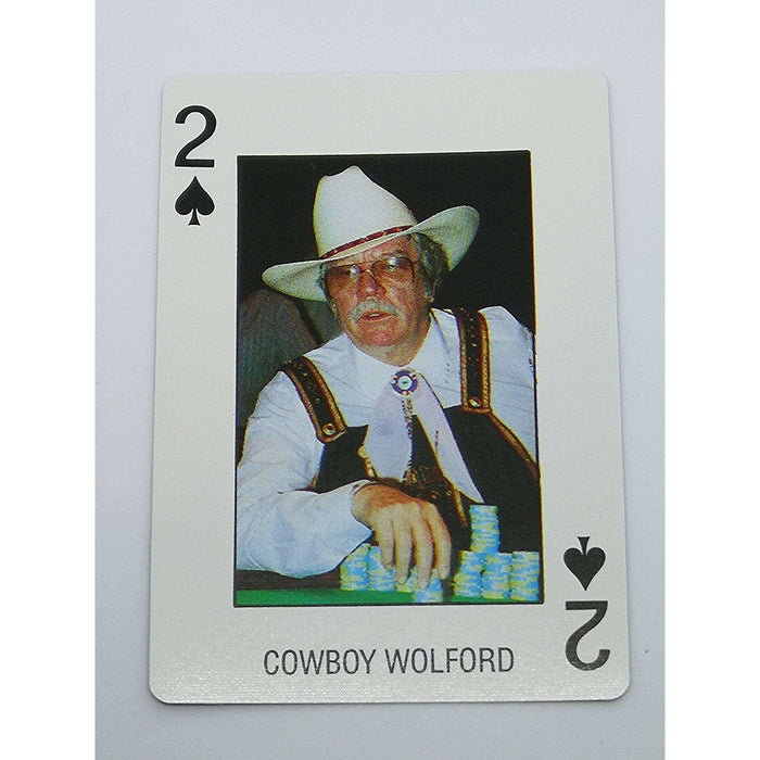 Cowboy Wolford Pro Deck Poker Pro Playing Card 2 of Spades
