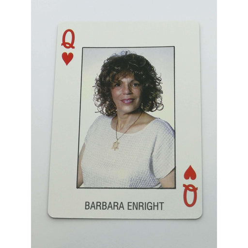 Barbara Enright Pro Deck Poker Pro Playing Card Queen of Hearts