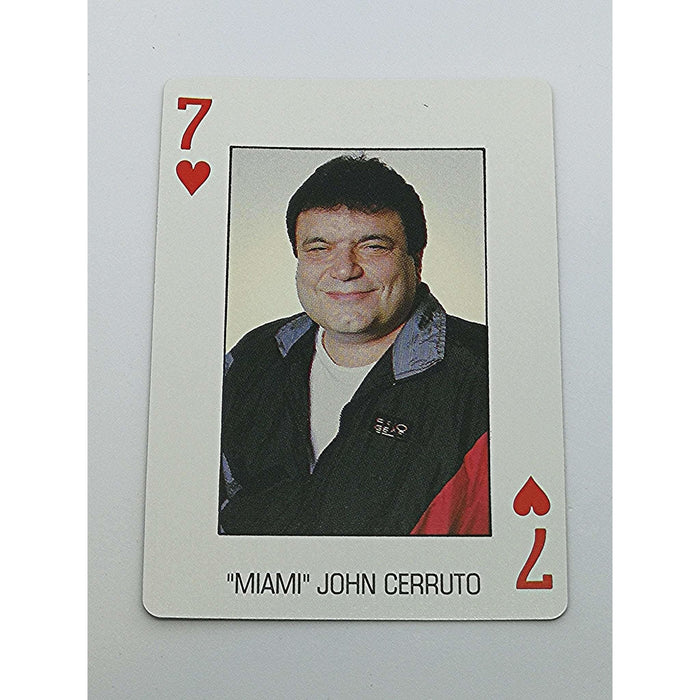 Miami John Cernuto Pro Deck Poker Pro Playing Card 7 of Hearts