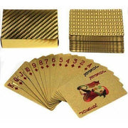 Deck of 24K Gold Leaf Playing Cards, 54 Card Poker Set
