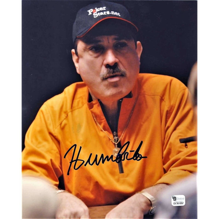 Humberto Brenes Poker Pro Autographed 8X10 Photo GAI Certified 897