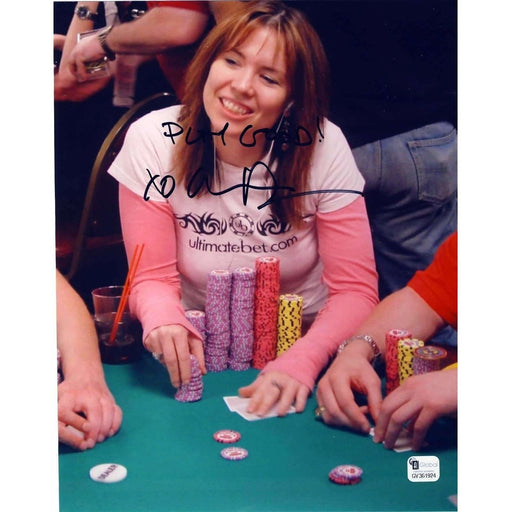 Annie Duke Poker Pro Autographed 8X10 Photo GAI Certified #924